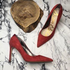 Sam Edelman Point Toe Red High Heels Size 10